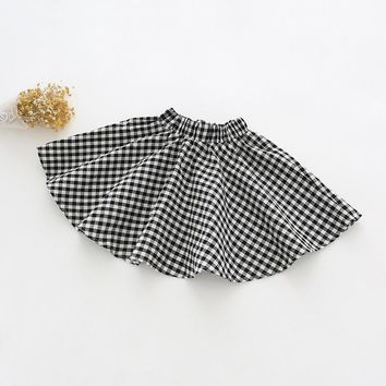 Plaid Baby Clothing Soft Cotton Girl Skirts Kids Princess Baby Girls Skirt Lovely Ball Gown Pettiskirt Baby Girls Clothes