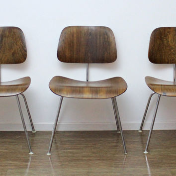Set of 3 Authentic Mid Century Eames by onemanstrashlasvegas