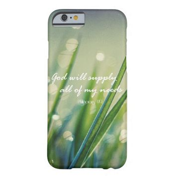 God Will Supply All Needs Bible Verse Quote Barely There iPhone 6 Case