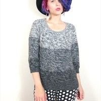 Grey Gradient Comfy Jumper Knitted Sweater (S) from Honey Moon Muse
