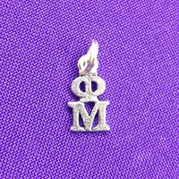 Phi Mu Sorority Lavaliere in Sterling Plate