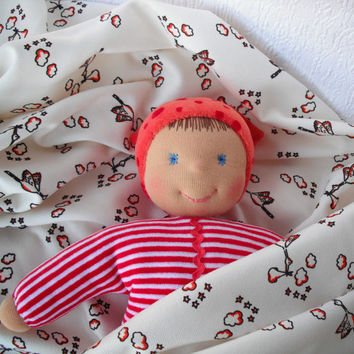 Waldorf baby doll, Handmade rag doll for little girl, First birthday gift, Soft toys, Christmas gifts for toddler girl, Personalized gift