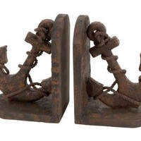 "Nautical book ends Polystone ship boat Anchor Bookend 10""h, 7""w"