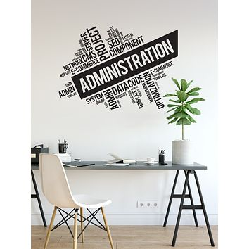 Vinyl Wall Decal Administration Office Space Decor Idea Admin Stickers Mural (ig6179)
