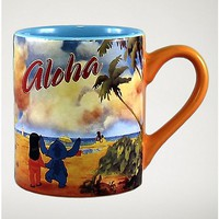 Aloha Lilo & Stitch Mug 14 oz. - Disney - Spencer's