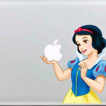 "Laptop Sticker Top Vinyl Partial Decal White Snow Princess Print Skin For Macbook Air Retina Pro 11""13""15"" New Mac12"""