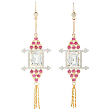 One-Of-A-Kind Aquamarine Windowframes Earrings | Moda Operandi