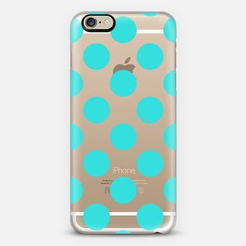 Mint Polka Dots iPhone 6 case by CreativeAngel | Casetify