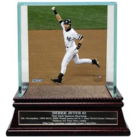 Steiner Sports New York Yankees Derek Jeter Moments Mr. November Home Run Baseball Case with Authentic Field Dirt (Ynk Team)