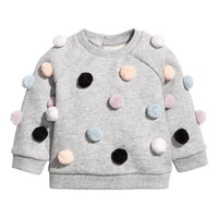 Sweatshirt with Pompoms - from H&M