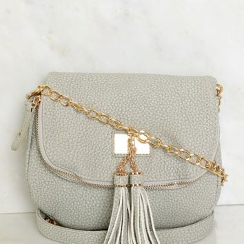 Fold Over Cross Body Grey