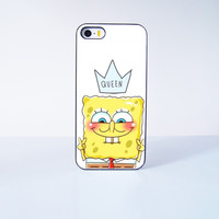 Spongebob Queen  Plastic Case Cover for Apple iPhone 5s 5 4 4s 5c 6 6s Plus