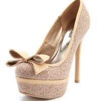 Pleather-Trim Bow-Front Pump: Charlotte Russe