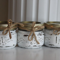 Shabby Chic White Candles, White Wedding Decor, White Centerpiece, White Candles, Scented Candles, rustic wedding decor, Wedding Favors