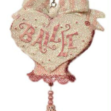 "Christmas Ornament - Pink And Silver  "" Ballet """
