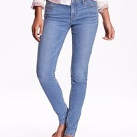 Old Navy Womens Mid Rise Super Skinny Jeans
