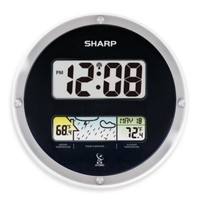 Sharp® Atomic Digital Wall Clock with Weather Display
