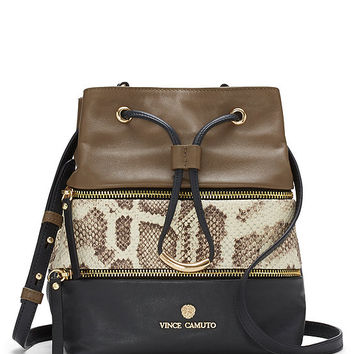 Vince Camuto Meg Colorblocked Snake-Embossed Cross-Body Bag | Dillards