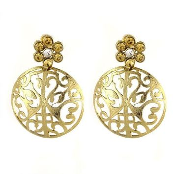CREYV2S VVS Jewellers Gold Plated Ethnic Indian Bollywood Diwali Sale Karva Chauth Women Kundan Earrings