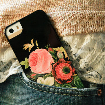 Vintage Floral iPhone 5S Case, Bouquet, Floral iPhone 5C, Floral iPhone 4, Galaxy S4 Cover, Flowers