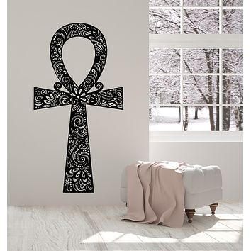 Vinyl Wall Decal Egyptian Cross Ancient Symbol Amulet Ankh Stickers Mural (g2712)