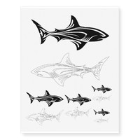 Tribal Shark Temporary Tattoos