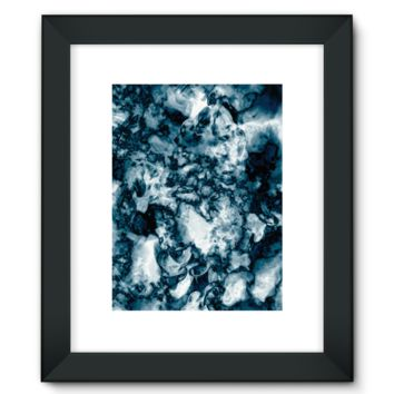 Black and White Swirling Smoke Framed Fine Art Print