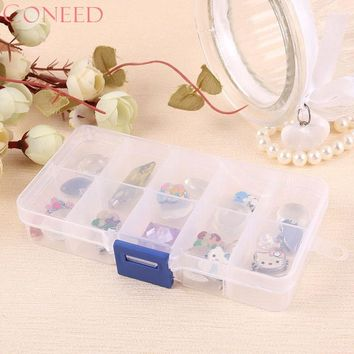 CONEED Drop Ship Elegant Tray 10 Slot Cosmetic Case Jewelry Rings Display Box Jewelry Storage Au1