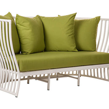 "Napa 73"" Outdoor Loveseat, Ginko 