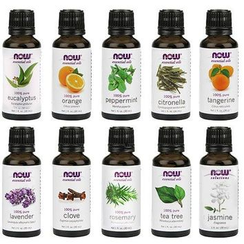 [Pack of 10 x 1oz] NOW Foods Essential Oils 10-Oil Variety Pack Sampler - 1oz Each