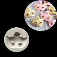 New Arrival 1 pc Mask Shape Cake Mold Fondant Mold, For Jelly,Candy, Chocolate soap Mold, Decorating Bakeware tools