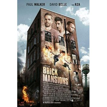 Brick Mansions poster Metal Sign Wall Art 8in x 12in