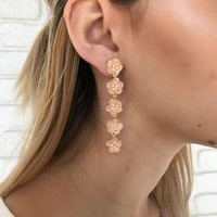 Rosette Earrings in Nude