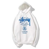 Stussy Fashion Casual Print Top Sweater Pullover Hoodie