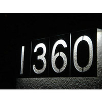 ThinkGeek :: Solar LED Address Numbers