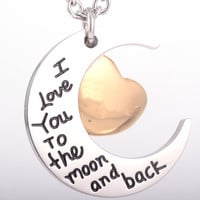 "Cremation Pendant ""I Love You To The Moon and Back"" NEW!"
