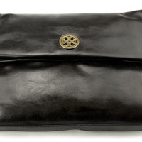 TORY BURCH Dena Messenger Cross-body Leather Handbag Bag Black 50009505 $365