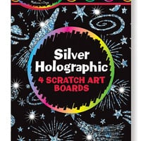 Silver Holographic Scratch Art Boards