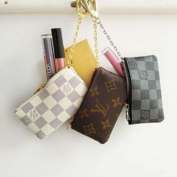 VXL8HQ Louis Vuitton Monogram Canvas Key Pouch Key case - purse B-MYJSY-BB White G