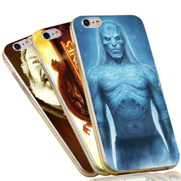 Jon Snow Stark Wolf Night King The Game of Thrones Case For iPhone 4 4S 5C 5 5S SE 6 6S 7 Plus Soft TPU Phone Cover