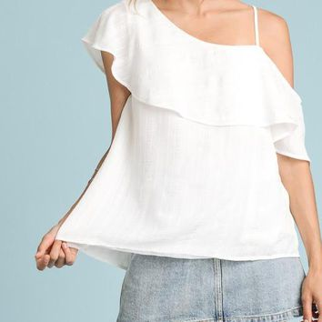 One Shoulder Top, Off White