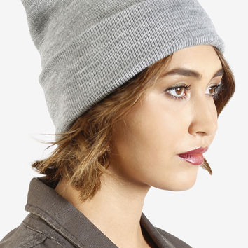 Cuffed Beanie - Heather Grey