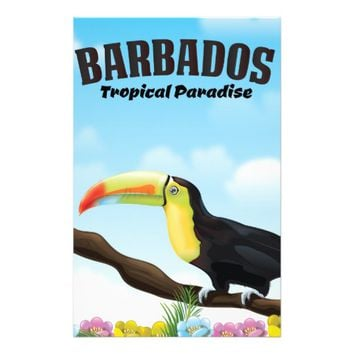 Barbados Tropical Paradise travel poster Stationery
