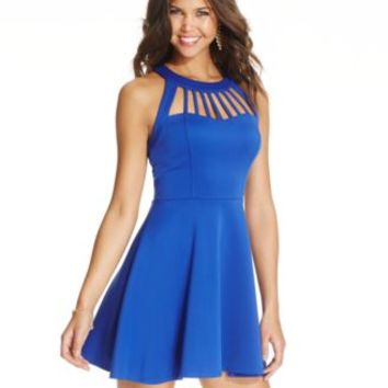 Trixxi Juniors' Flared Cutout Dress | from Macys | dresses