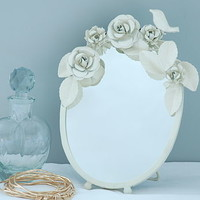 Dressing Table Mirror With Bird And Flowers
