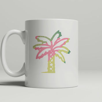 Cute Mug - FREE Shipping to USA ceramic mug art mugs palm tree pastel palm tree print dye sublimation minimalist mug personlalized custom
