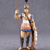 Toy Soldier Spartan Warrior Ancient Greece 1/32 Scale Hand Painted Statuette 54mm Metal Miniature Antique Action Figurine - Free Shipping