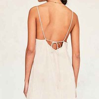 Six Crisp Days Tie-Back Slip Dress - Urban Outfitters