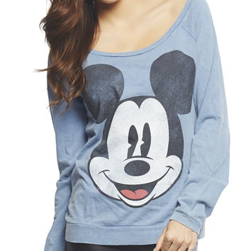 Mickey Mouse Face Sweatshirt   Wet Seal
