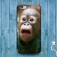 Funny Scary Monkey Phone Case Cute Animal Cover iPod iPhone 4 4s 5 5s 5c 6 Plus